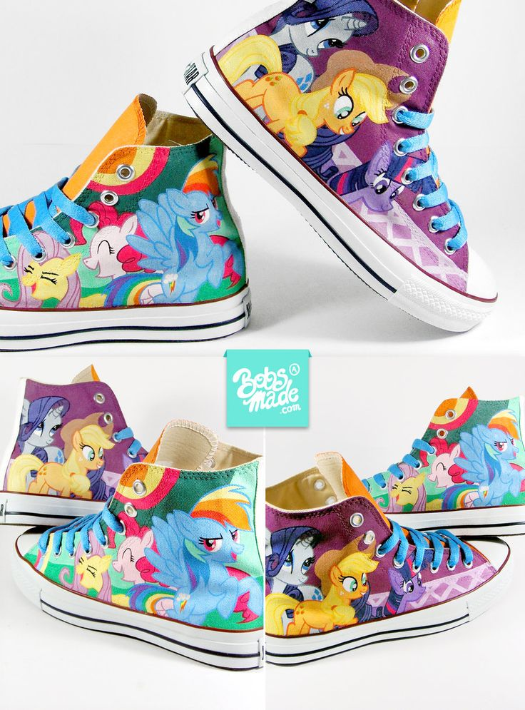 WANT SO BADD - Pony Chucks by Bobsmade.deviantart.com
