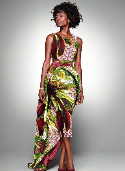 Gorgeous dresses. African-inspired formal dress. Pink & Green dresses. Elegant dresses. On wishlist. -kc