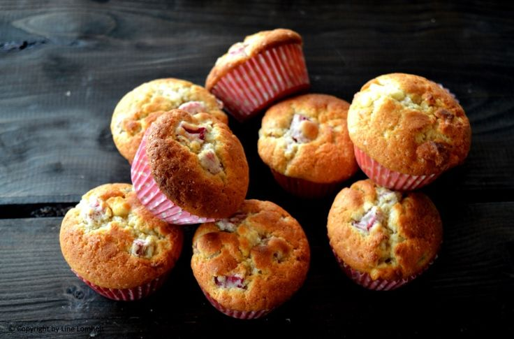 Rabarbermuffins med hvid chokolade1