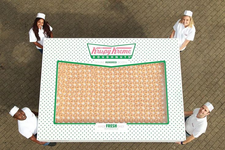 Krispy Kreme UK has created the Double Hundred Dozen, a tremendousbox of 2400 doughnuts to promote their new catering service Krispy Kreme Occasions.