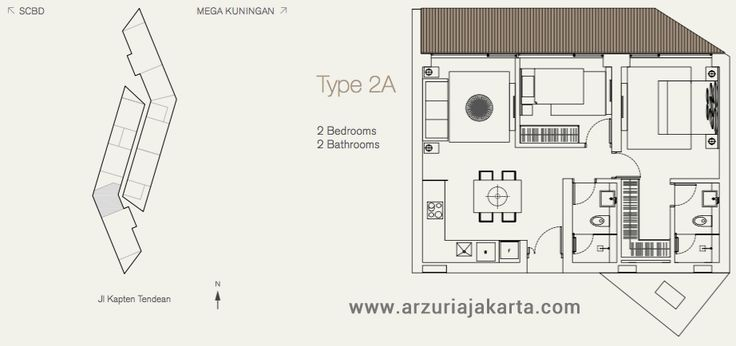 Type 2A Apartemen Arzuria Jakarta