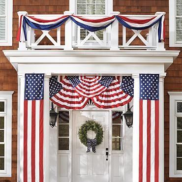 Patriotic Bunting: 50 Star pull down - Grandin Road $39 ea