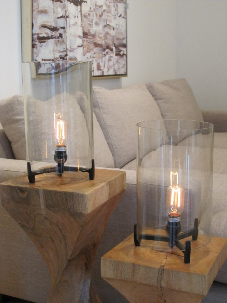 Lots I love here. The edison lamps and the birch painting! @cottind   http://www.cottageindustry.ca/in-store-now/accents/lighting/