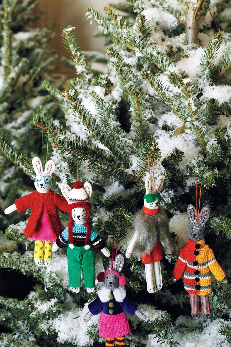 How adorable are these bunny ornaments from Anthropologie??
