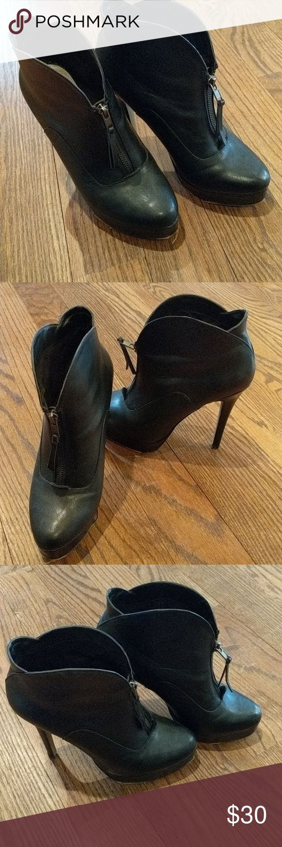 Charles by Charles David booties Used condition.  Heels are perfect, soles show wear.  Priced accordingly. Charles David Shoes Heeled Boots