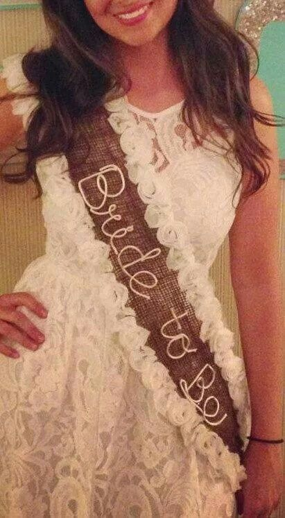 For Shelby. Char you could make a classy sash with your artistic skills??
