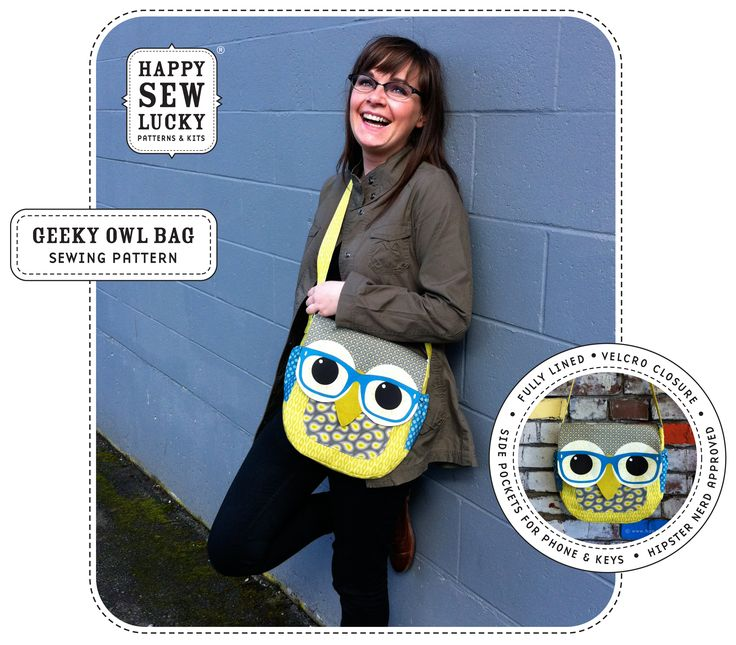 GEEKY OWL Bag tutorial..mom's Christmas present