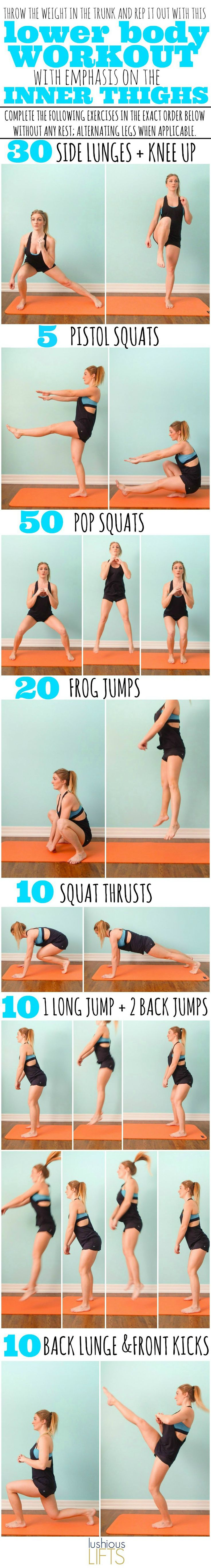 Lower Body Workout with emphasis on the Inner Thighs. The bodyweight workout that will make you feel strong and accomplished!