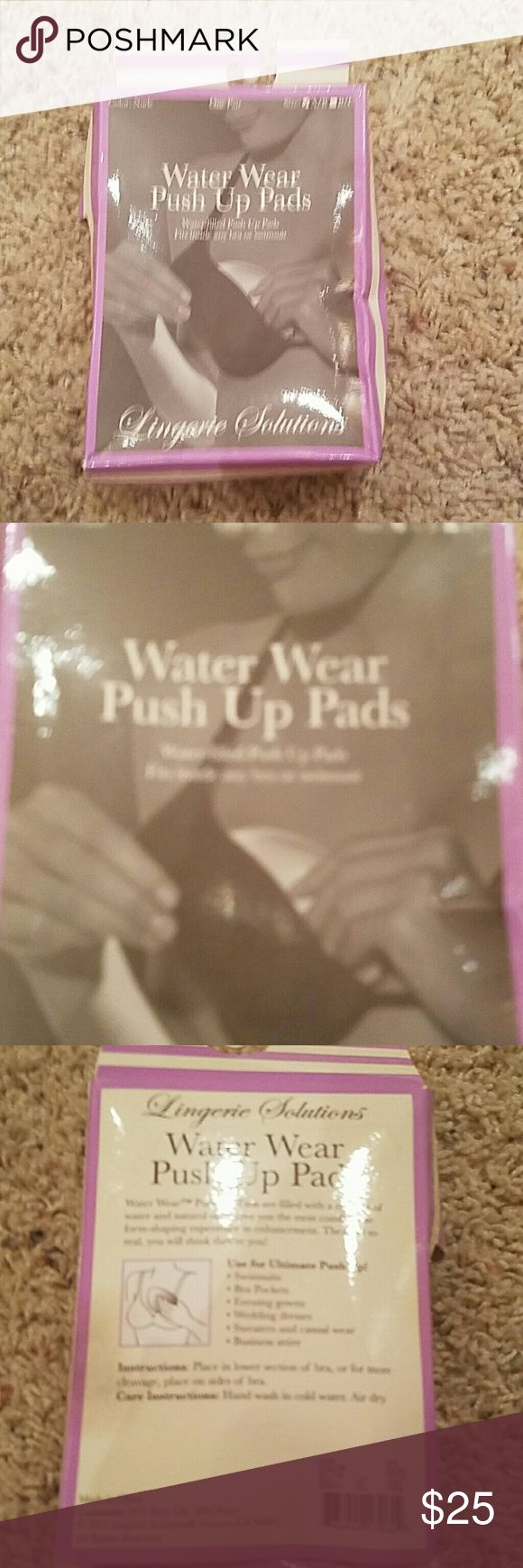 Water wear push up pads Water filled push up pads. Will fit inside any bra or even swimsuit!!! Brand new in original box!! Open to trades and or offers within reason Intimates & Sleepwear Bras