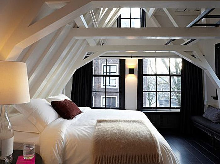 Chambre sous les toits.