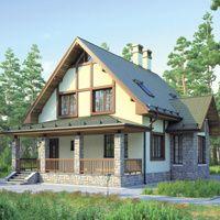 Проект бетонного коттеджа 55-44 :: Интернет-магазин Plans.ru :: Готовые проекты коттеджей