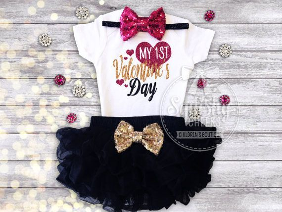 1st Valentines Day Outfit Babyu0027s 1st By BabySquishyCheeks On Etsy