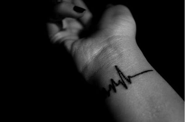 Heart Monitor - Simple Wrist Tattoos