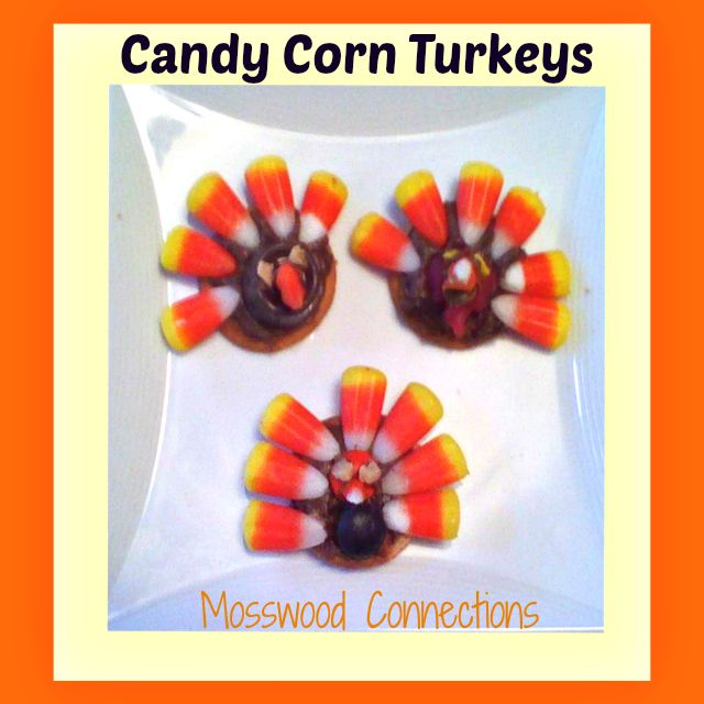 Make Candy Corn Turkeys for Thanksgiving with your left over Halloween candy!
