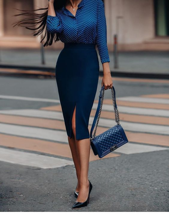 Chic navy office style