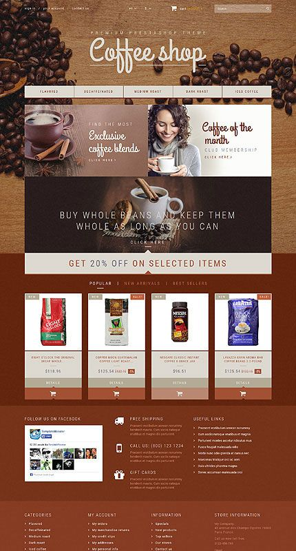 30 Food & Beverage PrestaShop Templates