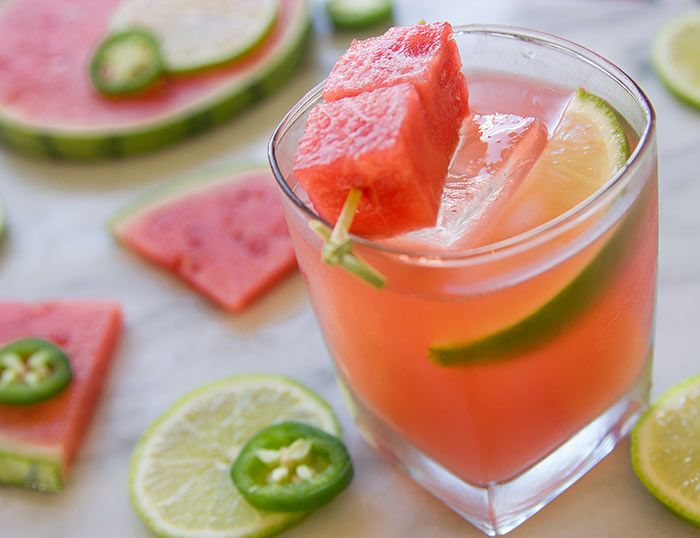 Watermelon tequila cocktail recipe Rent Check from Nordstrom. Photo by Jeff Powell