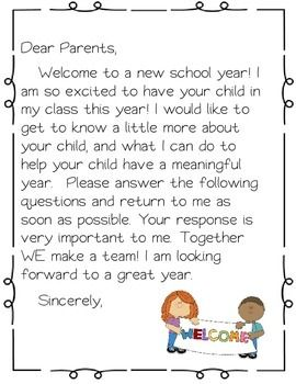 This is a great packet to send home the first week or even hand out at a school open house.