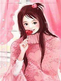 szép koreai rajzfilm lány Kép 3
