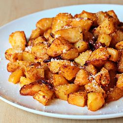 Parmesan Roasted Potatoes. A recipe with step-by-step photos...