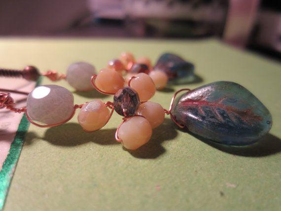 Delicate Flower Copper Earrings