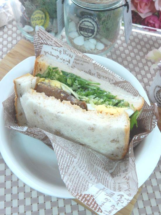 のどぐろ缶de具だくさんサンドイッチ♪|My Story