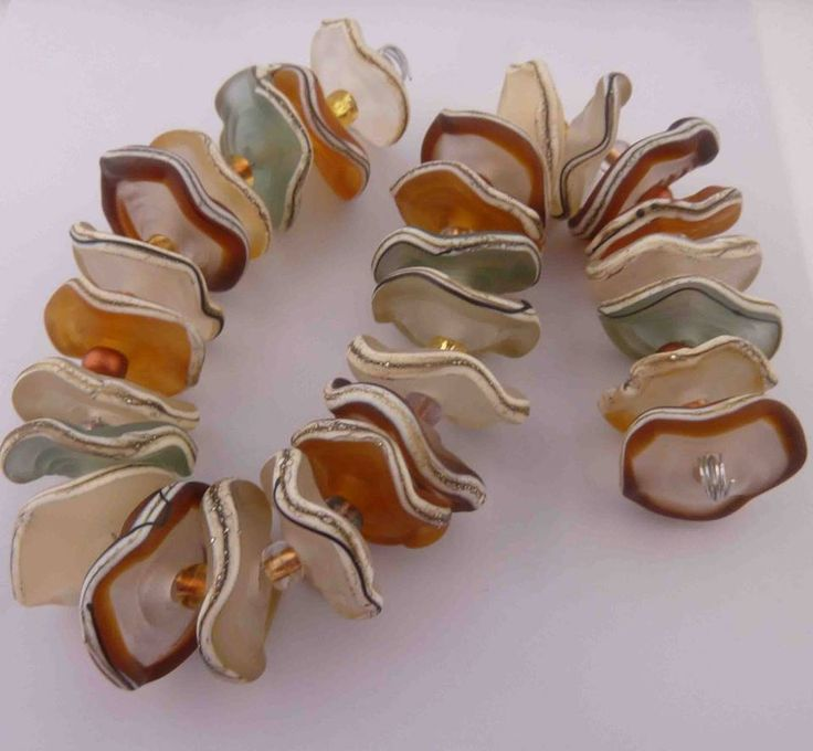 Murano glass factory produces these unique beads, by http://www.stravagante-jewelry.com