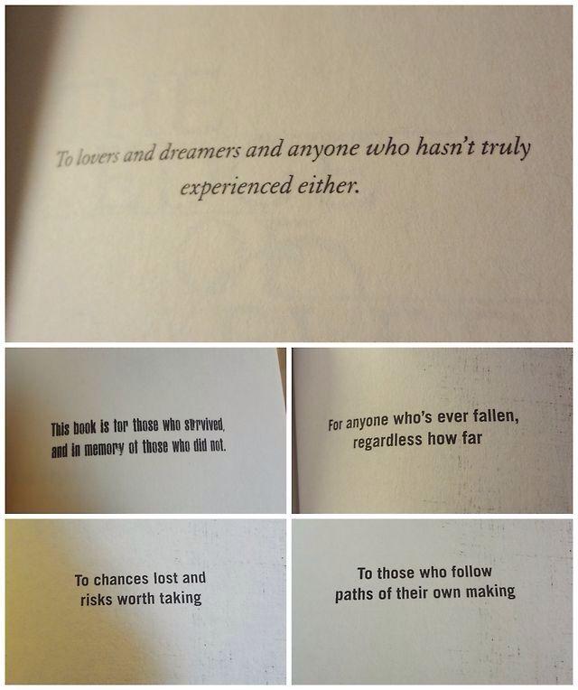 Books dedications