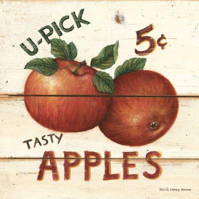U-Pick Apples, Five Cents Kunstdruk