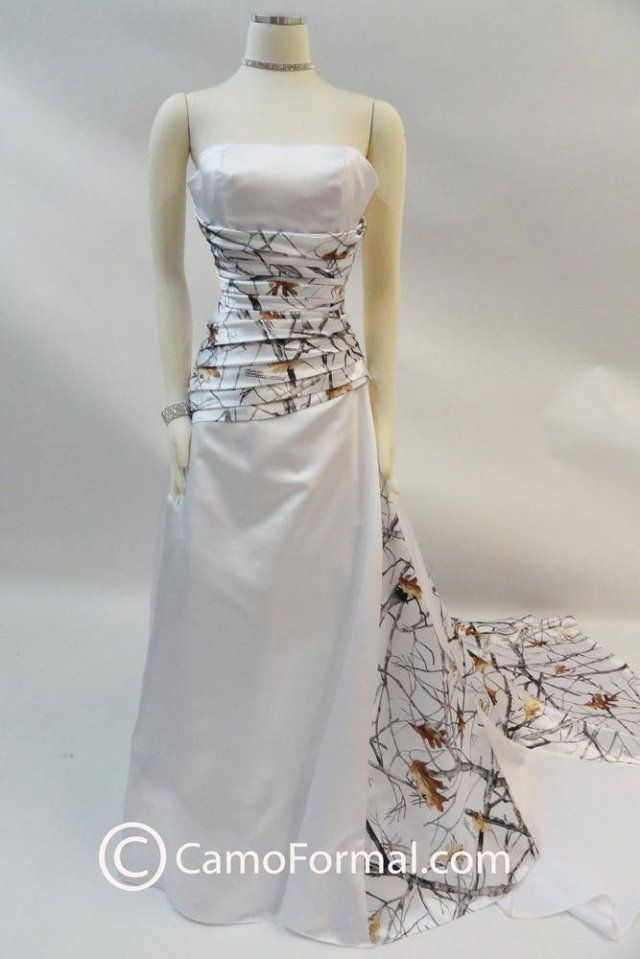 White camo wedding dress                                                                                                                                                                                 More