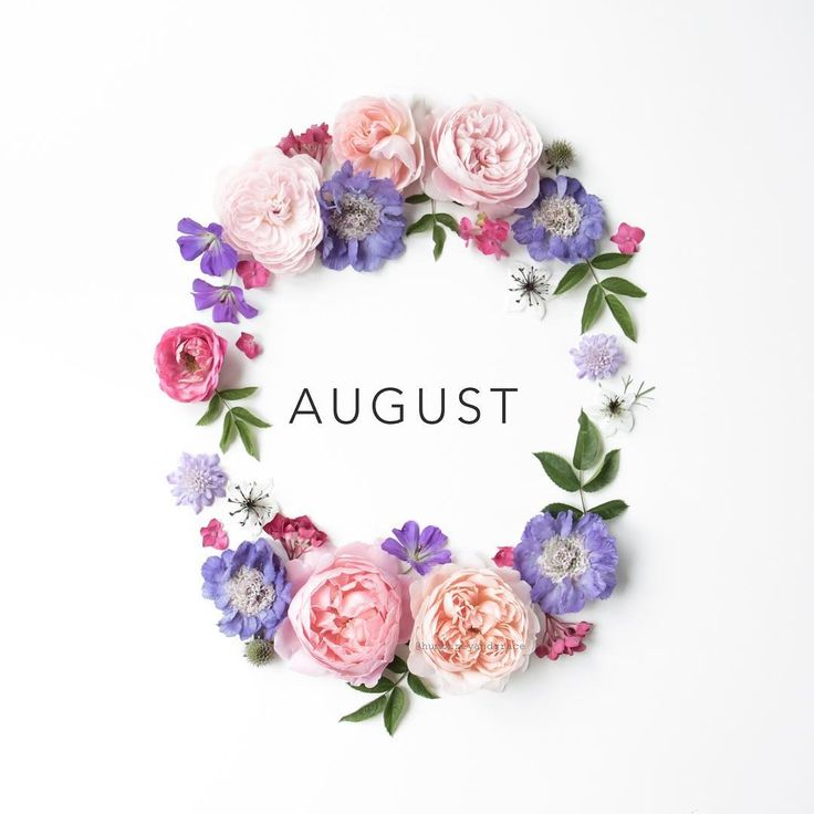 A circle of flowers -- 'Hello August' by humphreyandgrace on Instagram