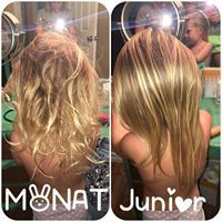 Just a couple sprays of MONAT Junior detangler! No crying, tugging or pulling!! Literally took about 30 seconds to brush her hair out! Love my Monat!!! - CUSTOMER REVIEW