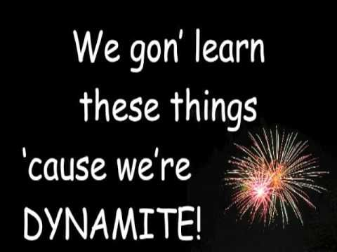 """7 Habits (to the tune of """"Dynamite""""). I like the idea...not what they chose as habits"""