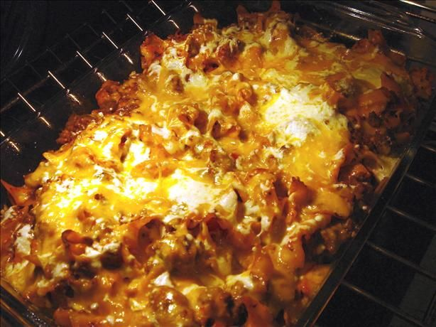 Italian Casserole Dinner from Food.com:   A quick to make casserole with 2 meats and 2 cheeses.