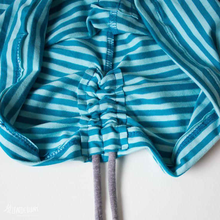 Tutorial seitliche Raffung an Shirts/Kleidern