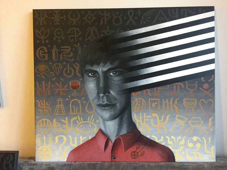 "Franciszek Grzesiak, ""Sordid 3"", 60x70 cm, acrylic on canvas"