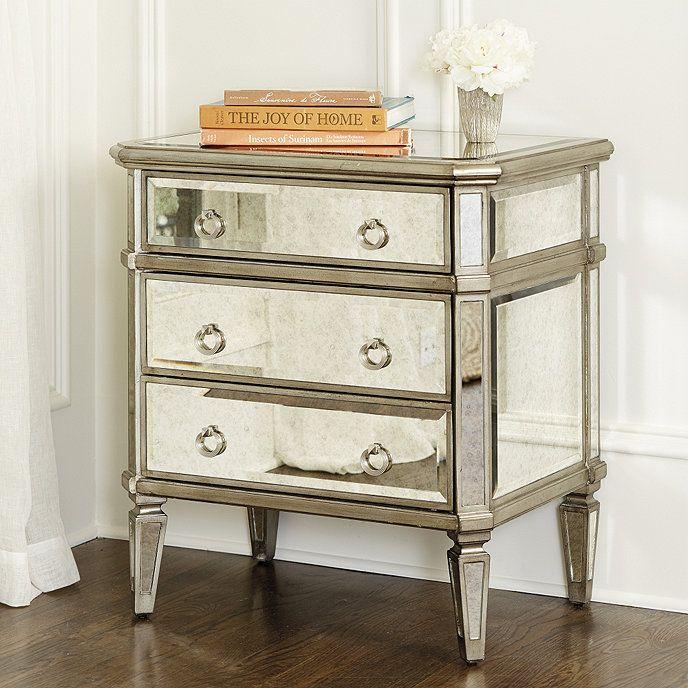 Deanna Mirrored Side Table | Ballard Designs