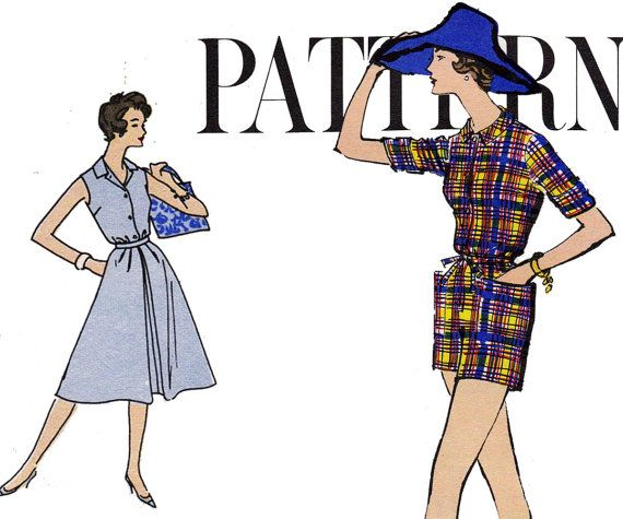 1950s PLUS SIZE Playsuit Wrap Skirt by allthepreciousthings, $50.00