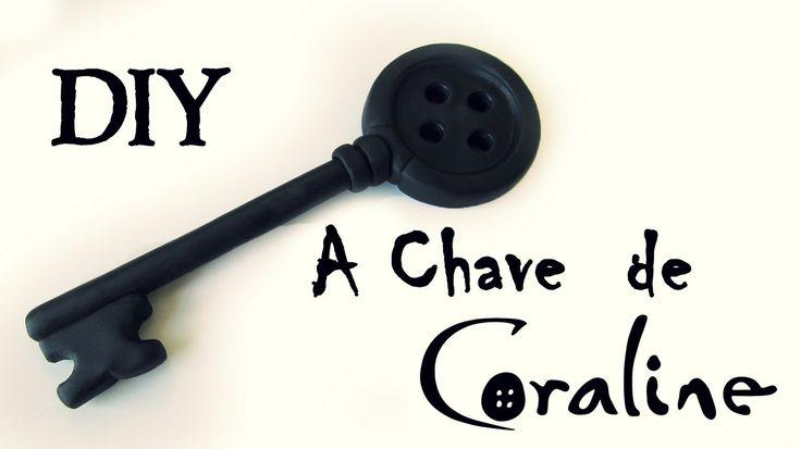 DIY: COMO FAZER A CHAVE DE CORALINE E O MUNDO SECRETO (Coraline Key Tuto...