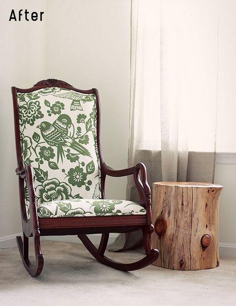 gorgeous fabrics, check our designsponge.com for the befores