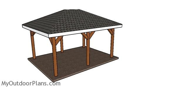 12x16 Hip Roof For Pavilion Plans Myoutdoorplans Free Woodworking Plans And Projects Diy Shed Wooden Playh In 2020 Hip Roof Pavilion Plans Woodworking Plans Free