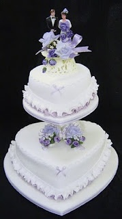 Wedding Cakes Pictures: heartdone in greens and blue.