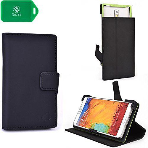 Alcatel One Touch Pop 4+, Alcatel One Touch Pop 4S Black Smartphone Folio Flip Cell phone Case
