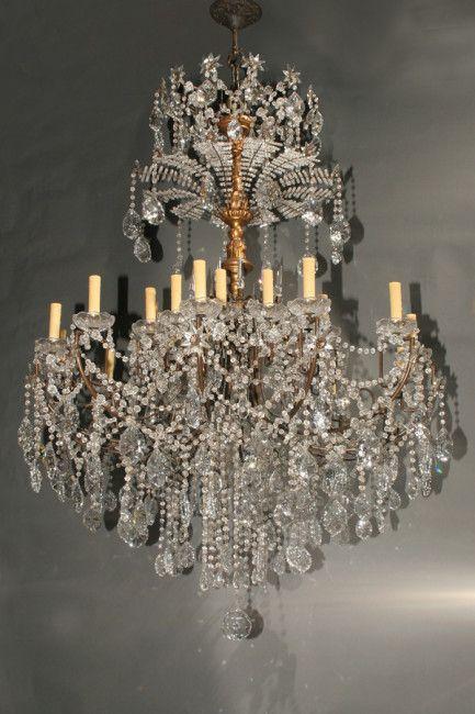 Fabulous 24 arm bronze and crystal Italian antique chandelier, circa 1890. # antique # - 146 Best Antique Chandeliers Images On Pinterest Antique