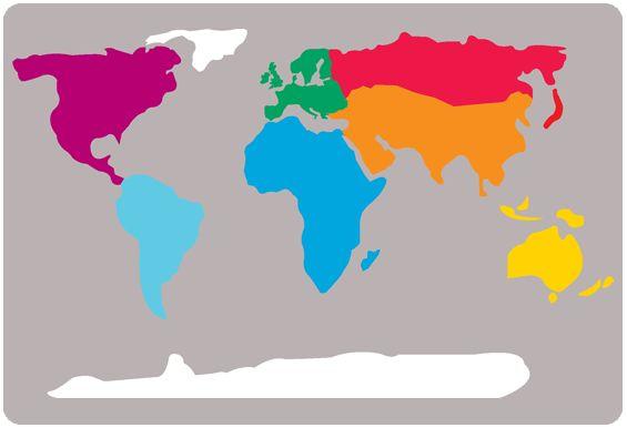 Geography Nursery Nursery School Playground World Map