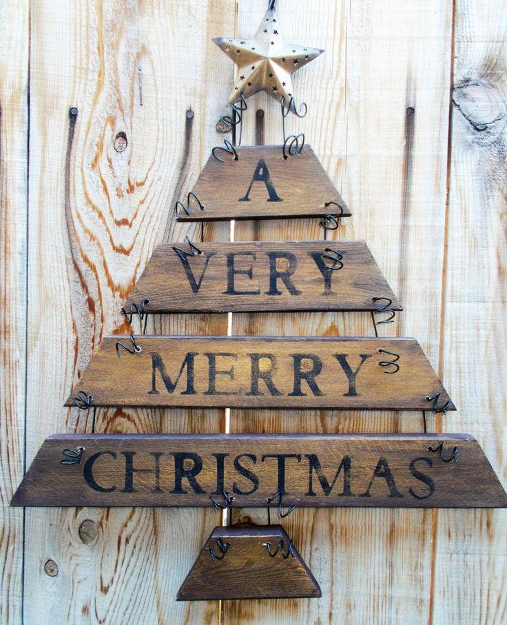 Christmas Door Hanging, Rustic Christmas Tree, Christmas Decoration, Holiday Decor, Christmas Wall Hanging, Holiday Sign , Christmas Sign by kathleenmelville1 on Etsy