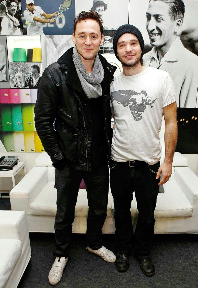 Tom Hiddleston and Charlie Cox. I just screamed  I said yaa Allah... thanks for creating them God :')