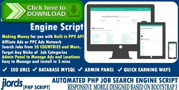 [ThemeForest]Free nulled download Automated Job Search Engine Script from http://zippyfile.download/f.php?id=38708 Tags: ecommerce, affiliate, aggregator, career, employment, feed, job, job api, job search engine, job site, jobs, rss, search, spider