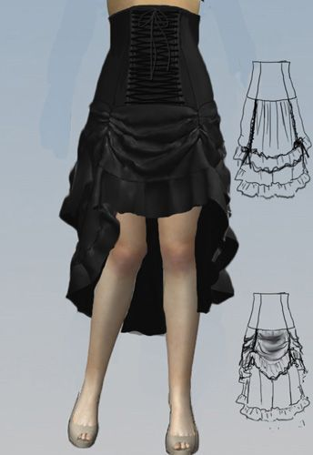 Laced Victorian Short Bustle Skirt By Amber Middaugh 2015 -3912