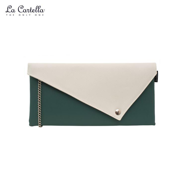 La Pochette Green and White #lacartella #knob_design